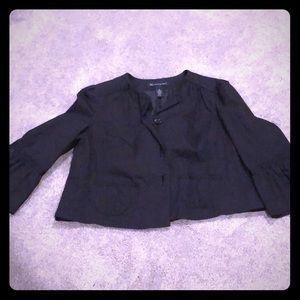 Cropped bell sleeve blazer